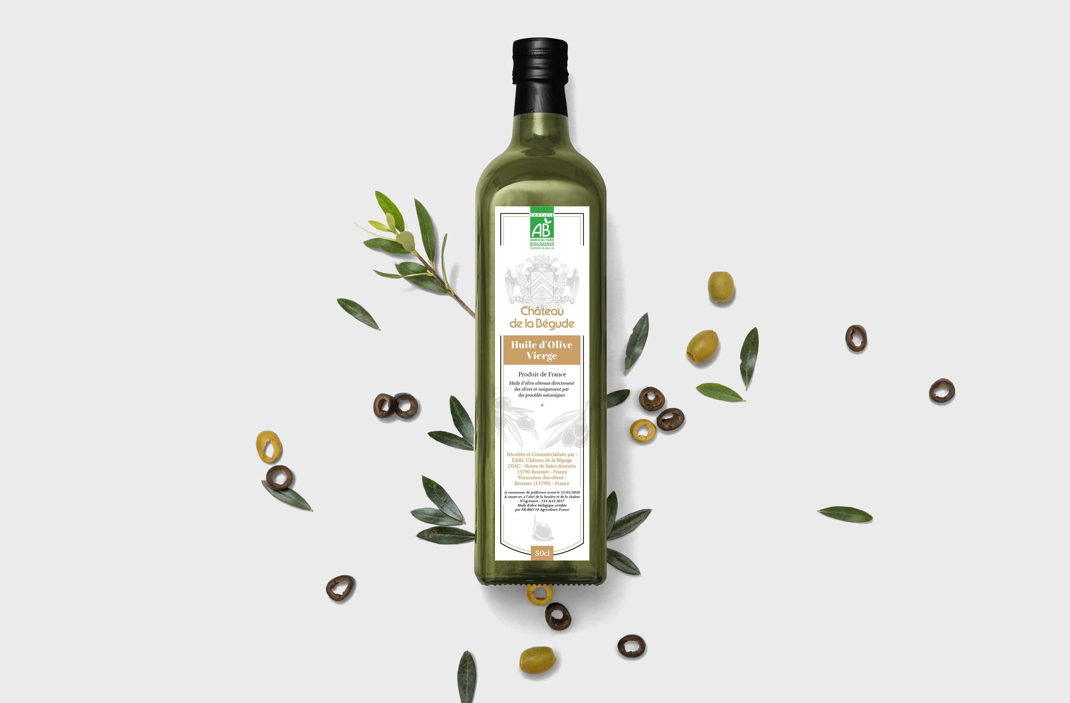 huile d'olive chateau de la begude
